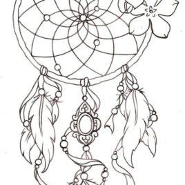 Dreamcatcher Mandala Coloring Pages