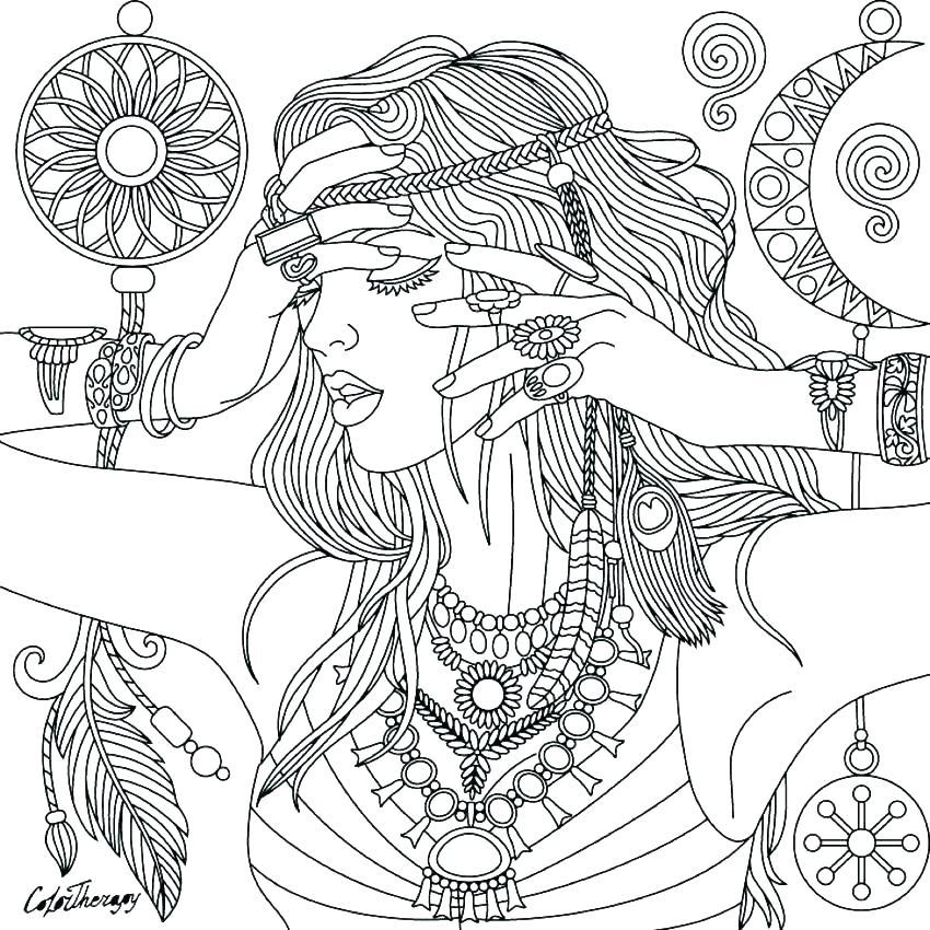 850x850 Dream Catcher Coloring Pages Dreamcatcher Mandala Coloring Pages