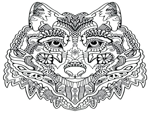 625x469 Dream Catcher Coloring Pages For Adults Top Wolf Mandala Design
