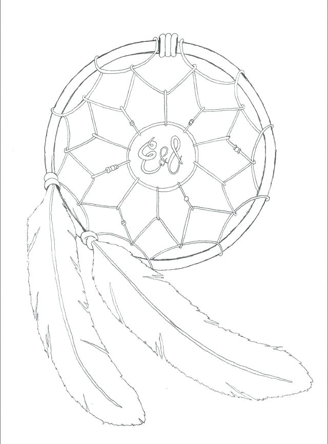 640x866 Dream Catcher Coloring Pages Printable Of Mandala Murs