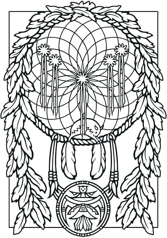 650x925 Dreamcatcher Coloring Pages Owl Coloring Page From Coloring Dream