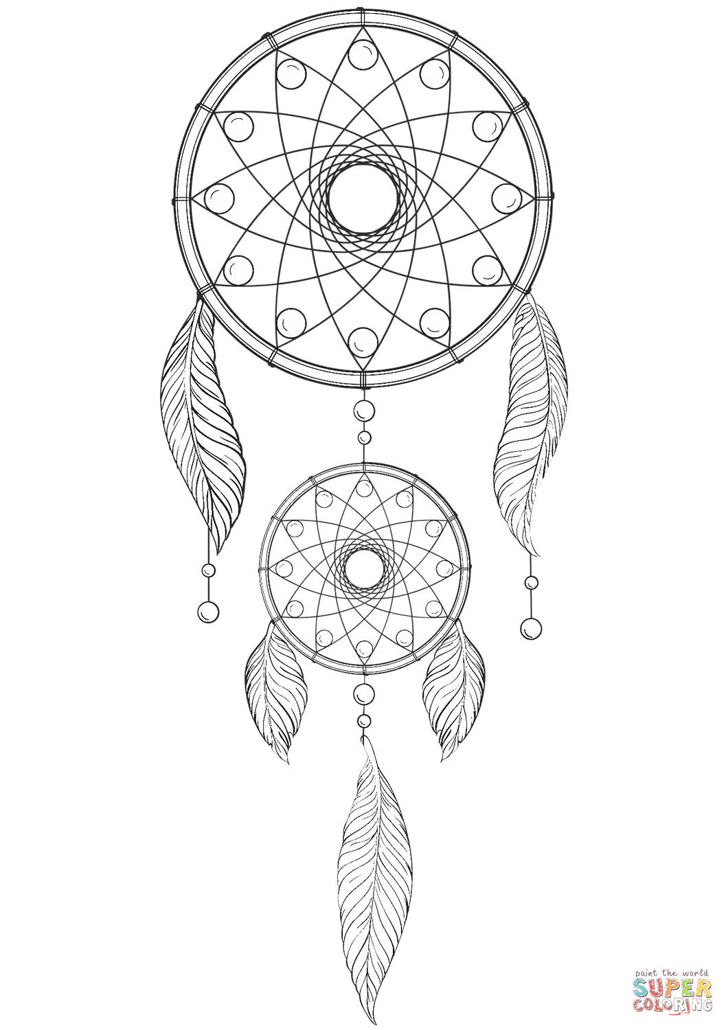 Dreamcatcher Mandala Coloring Pages at GetDrawings   Free ...