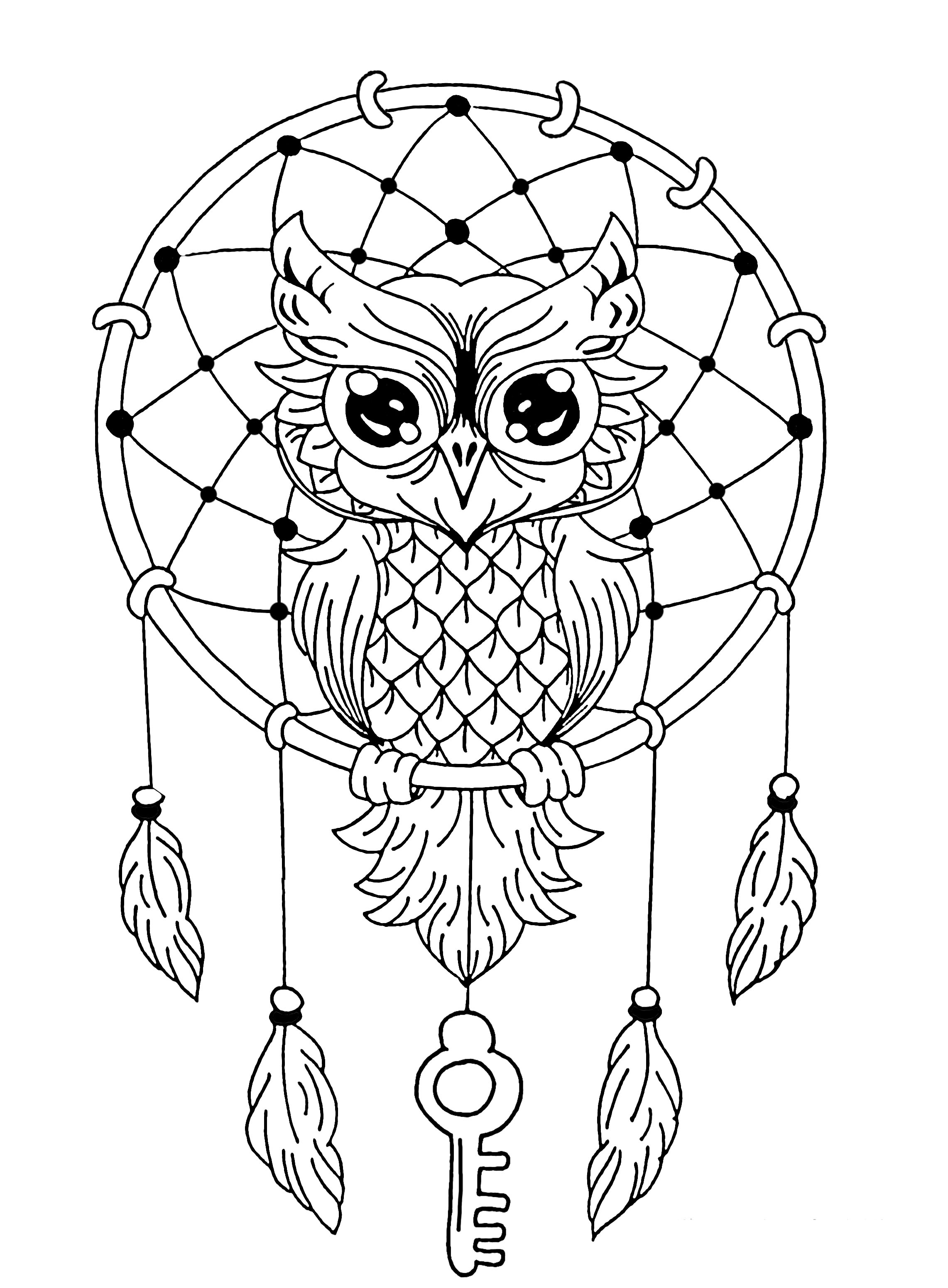 2283x3099 Owl Dreamcatcher