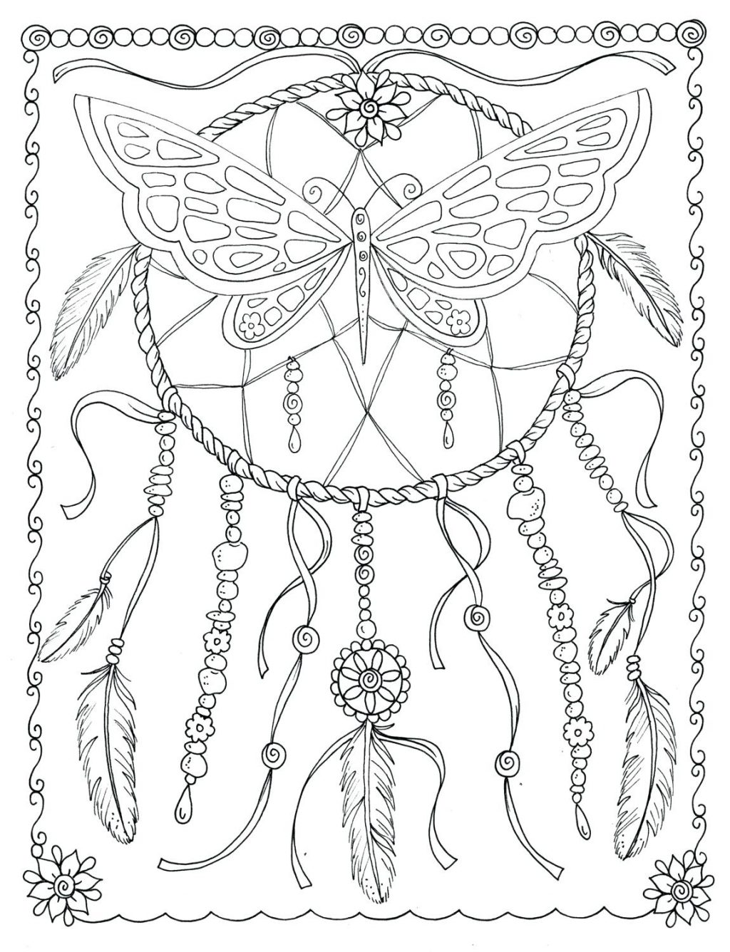 1024x1336 Coloring Page Dreamcatcher Coloring Pages Zoom Free Printable
