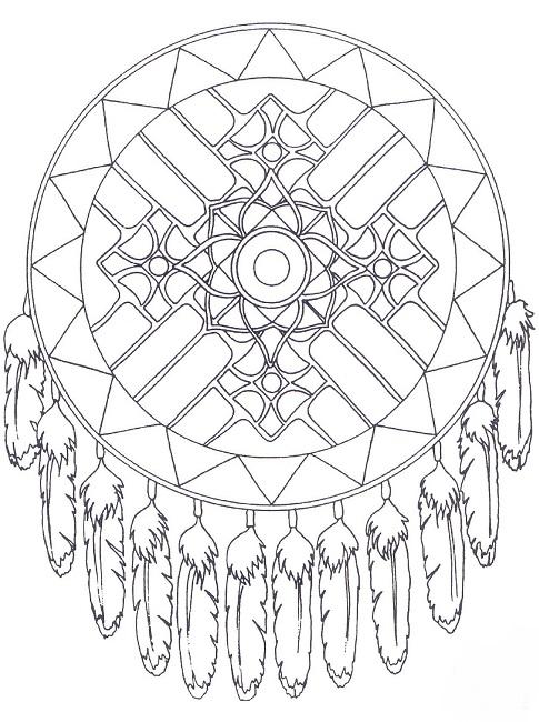 485x650 Free Native American Mandala Coloring Pages Design