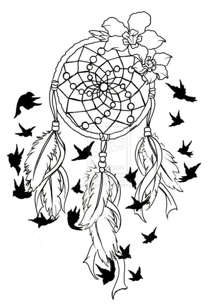 727x1024 Coloring Dreamcatcher Mandala Coloring Pages