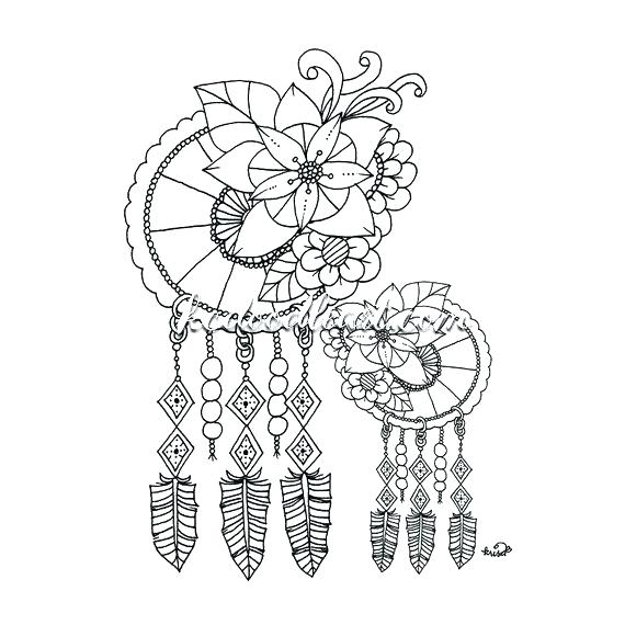570x570 Dream Catcher Coloring Pages Together With Coloring Page Dream