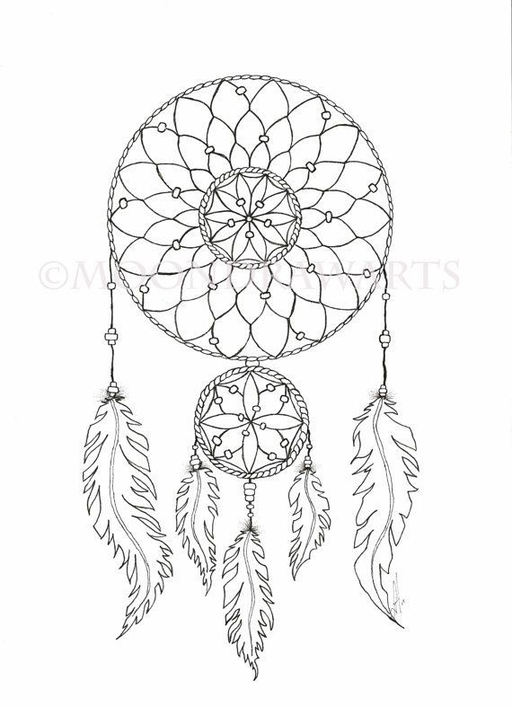 570x786 Dream Catcher Printable Coloring Page