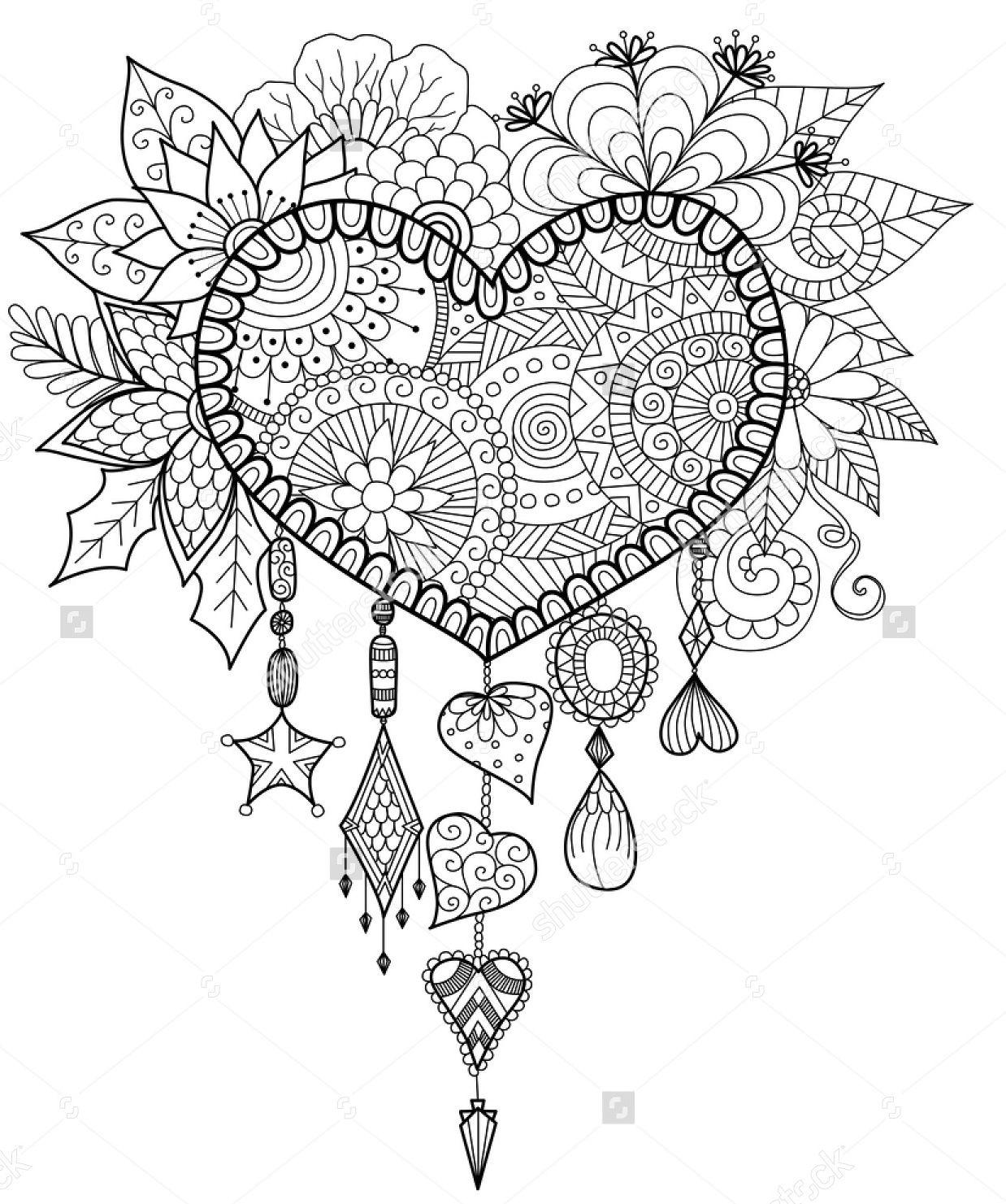 1238x1481 Heart Shaped Floral Dreamcatcher Shutterstock Dreamcatcher