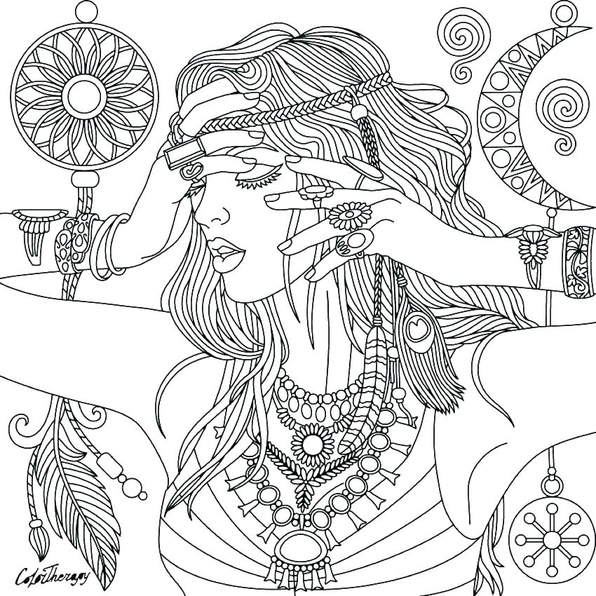 850x850 Native American Dreamcatcher Coloring Pages Printable Coloring