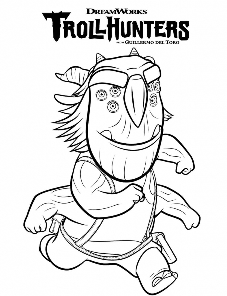 787x1024 Printable Dreamworks Trollhunters Coloring Pages You Won't Find