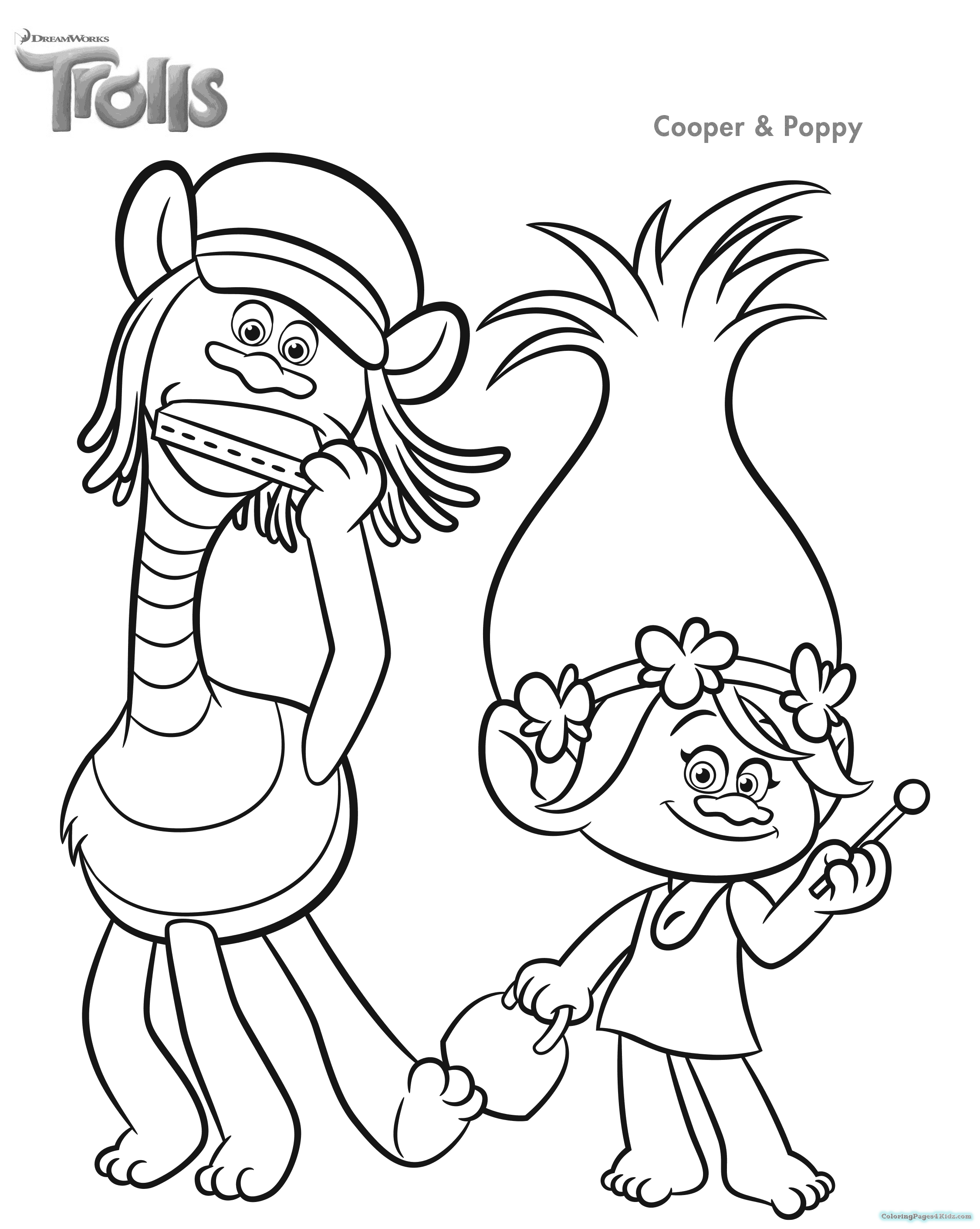2250x2820 Trolls Dreamworks Coloring Pages Coloring Pages For Kids
