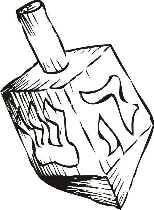 500x679 Dreidel Coloring Pages Help Your Celebrate The Season With This