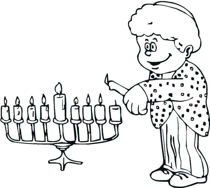 739x660 Muscle Coloring Pages Muscle Coloring Pages Menorah Coloring Page