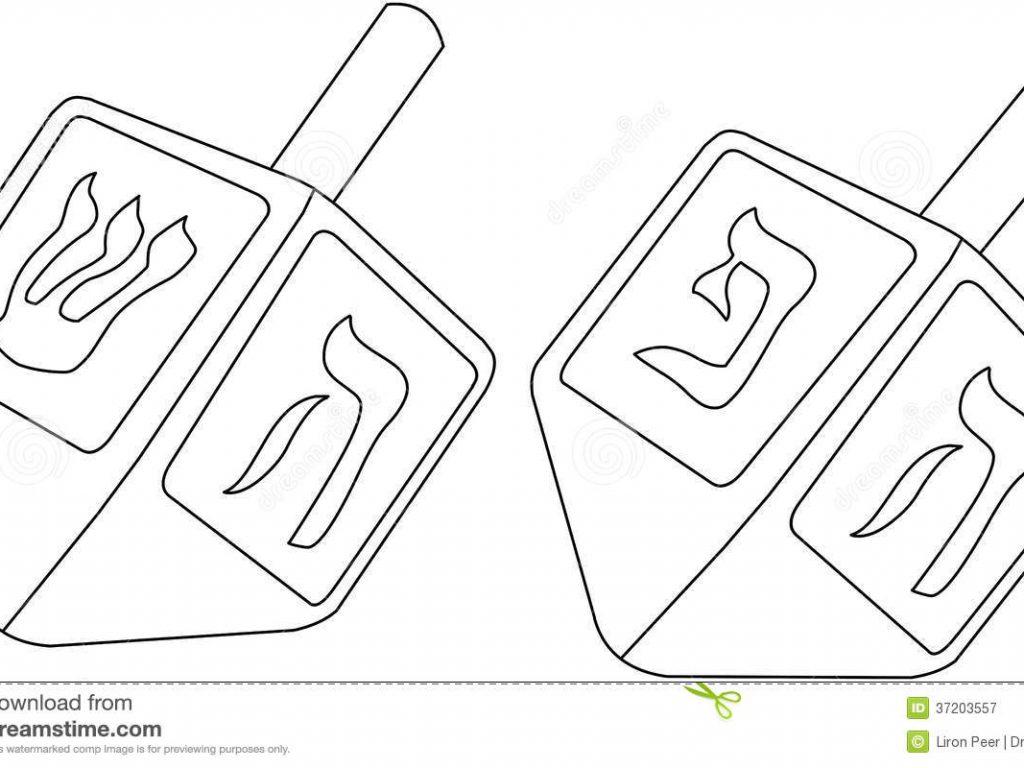 1024x768 Dreidel Coloring Pages Superb Chanukah Dreidels Page