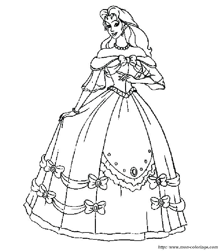 700x800 Dress Coloring Pages Dresses Coloring Pages Barbie Wedding