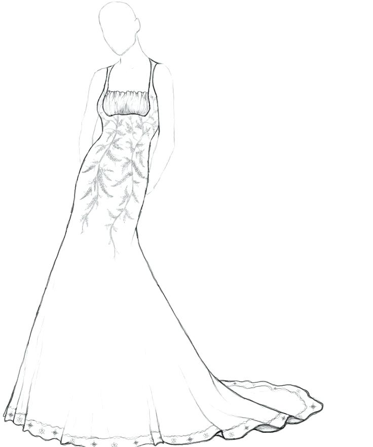 736x883 Dresses Coloring Pages Wedding Dresses Coloring Pages Wedding