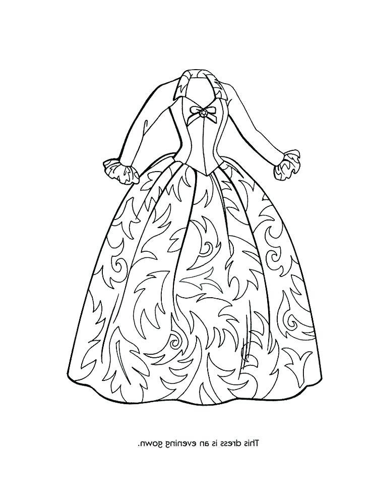 736x981 Dress Coloring Pages