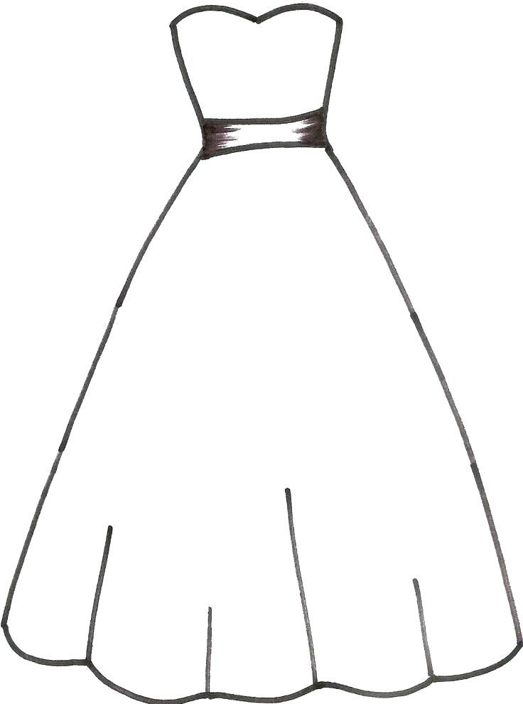 736x990 Coloring Dresses Dress Coloring Page Entertaining Dresses Coloring