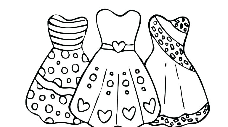 Dress Coloring Pages For Girls
