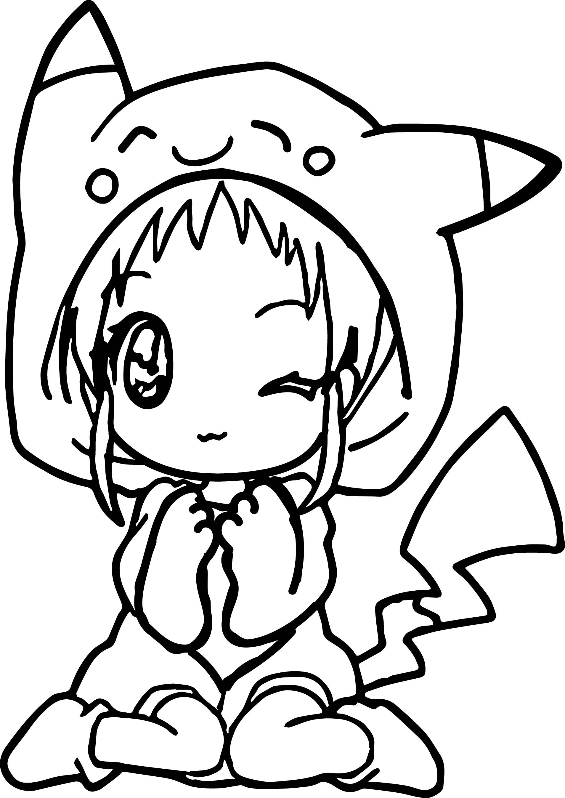 1908x2694 Cool Dress Coloring Page For Girls Awesome Anime Girl Pikachu