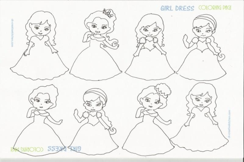 800x533 Girl Dress Coloring Pages