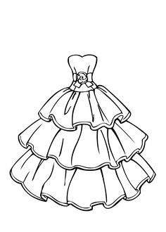 236x330 Wedding Dress Coloring Page For Girls, Printable Free Coloring