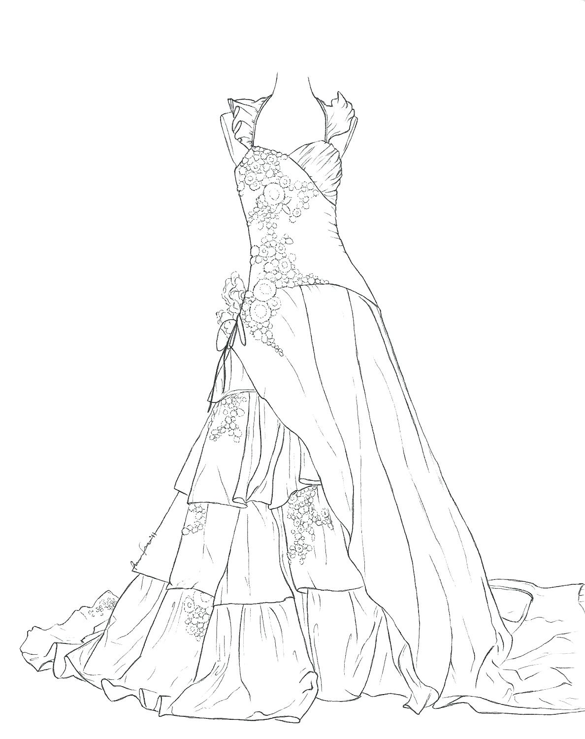 1188x1500 Coloring Pages Dress Coloring Pages Girl Evening Cartoon
