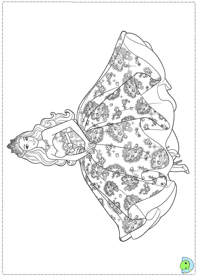 691x960 Barbie Princess Coloring Page For Girls Dresses For The Kids