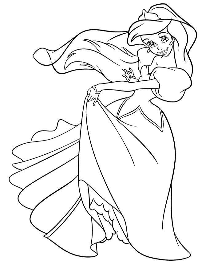 670x860 Prinzessin Ariel In Kleid Malseite
