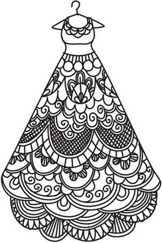 Dress Design Coloring Pages