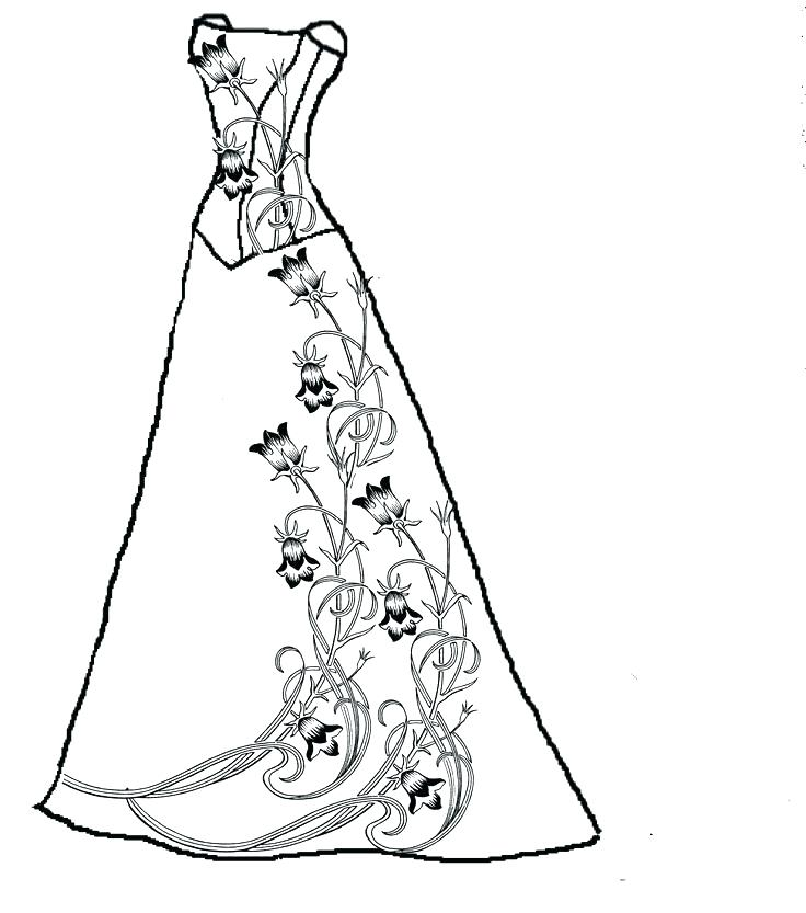 736x833 Dress Coloring Pages Coloring Pages Prom Dress Coloring Pages