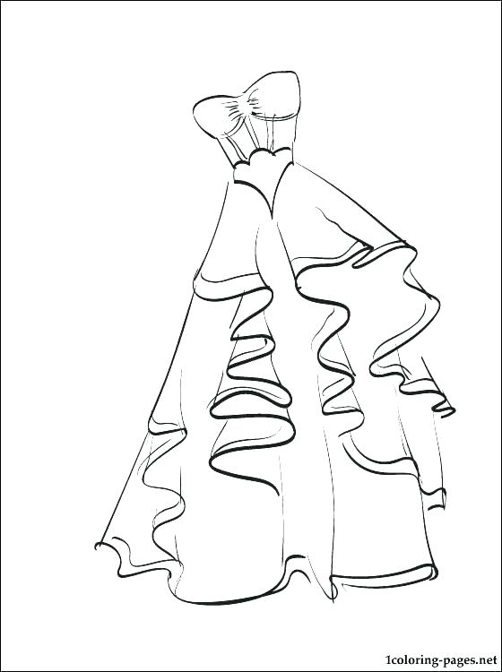 560x750 Dress Coloring Pages Printable Coloring Page Of Cat Wearing