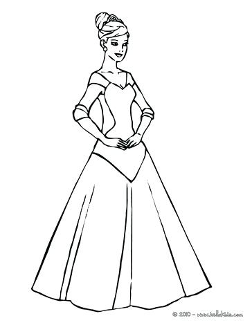 364x470 Dress Coloring Pages Well Dressed Princess Princess To Color