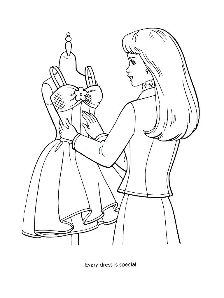 768x1024 Every Dress Special Coloring Page Coloring Pages