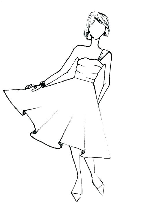 560x730 Excellent Dress Coloring Page Dress Coloring Pictures Bridesmaid