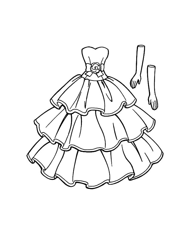 600x800 Princess Doll Dress Coloring Pages Coloring Sky Doll Dress