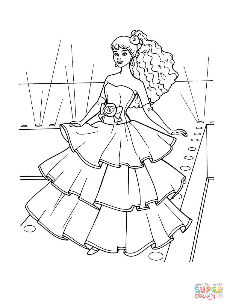768x1024 Special Dress Coloring Pages To Print Wondrous Design Games