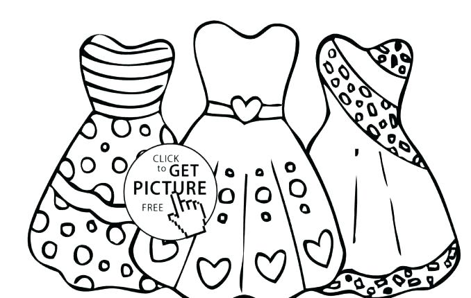 678x430 Dress Coloring Pages