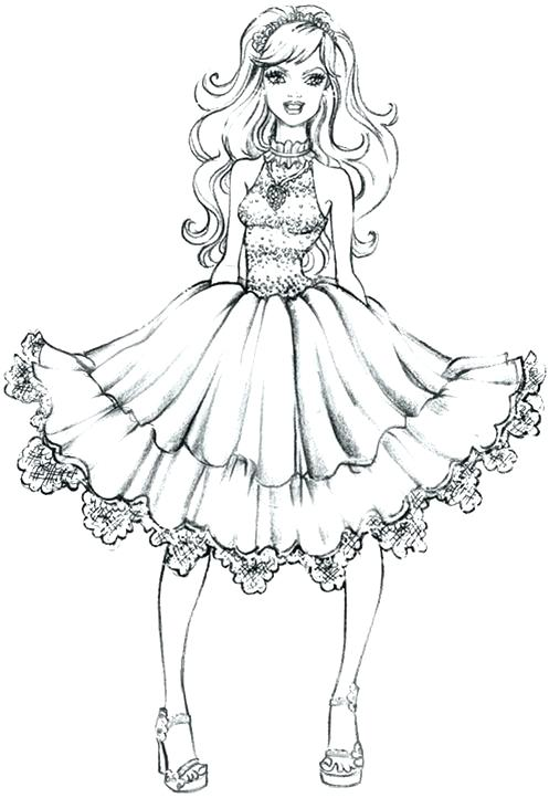 497x722 Coloring Pages Fashion Coloring Page Dress Backgrounds Coloring