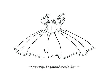 476x333 Design A Dress Coloring Pages Dress Coloring Pages Free Printable