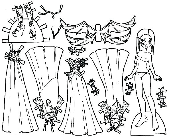600x480 Dress Coloring Pages Fabulous Doll Dress Coloring Pages Barbie