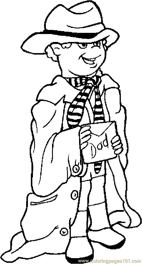483x900 Dress Up For Dad Coloring Page