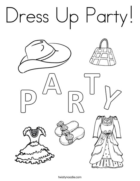 468x605 Dress Up Party Coloring Page