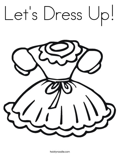 468x605 Let's Dress Up Coloring Page