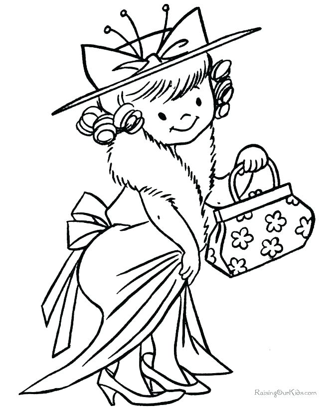 670x820 Dress Up Coloring Pages