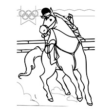 Dressage Coloring Pages