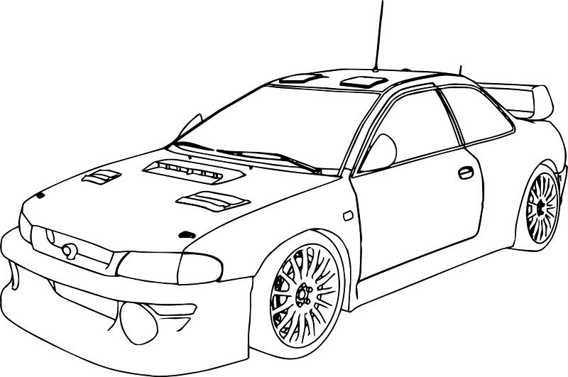 800x531 Cars Coloring Pages Simple Race Coloring For Kids