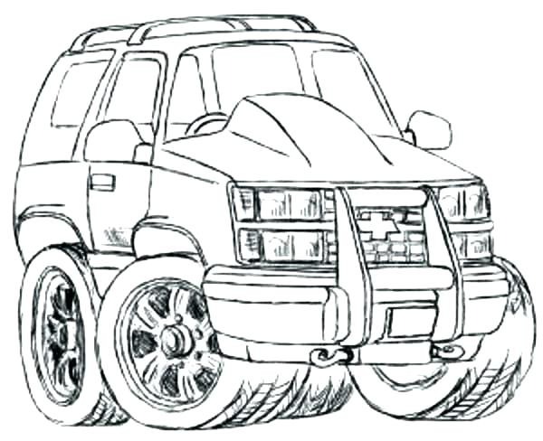 600x488 Coloring Pages Cars Printable Coloring Car Coloring Page Sketch