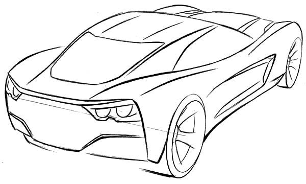 600x360 Corvette Cars, Corvette Sport Cars Coloring Pages Corvette Sport